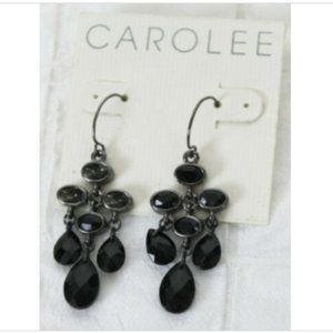 NEW with Issues. Carolee Black Jet Chandelier Ear